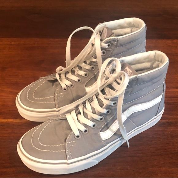 Vans Shoes | Gray Sk8 High Tops Sz